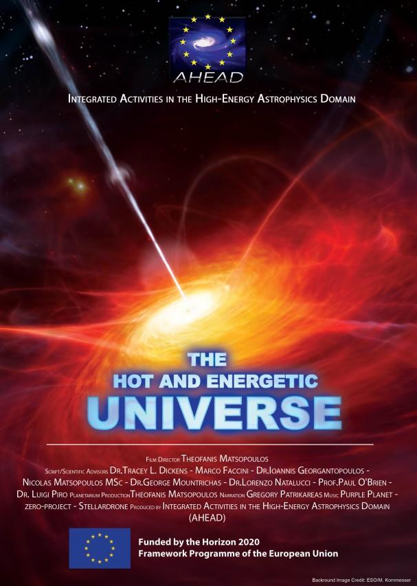 """Nuovo spettacolo per Planetari """"THE HOT AND ENERGETIC UNIVERSE"""""""