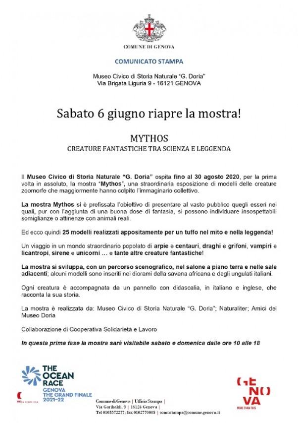 Riapertura mostra Mythos al Museo Doria!