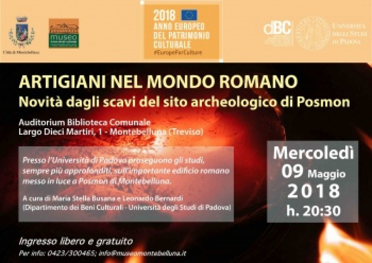 ARTIGIANI NEL MONDO ROMANO. Novità dagli scavi del sito archeologico di Posmon