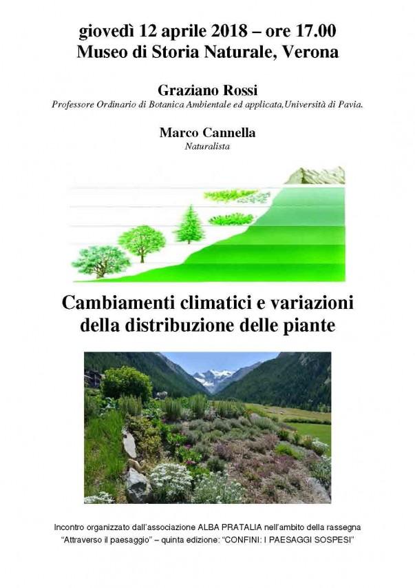 Cambiamenti climatici e variazioni della distribuzione delle piante