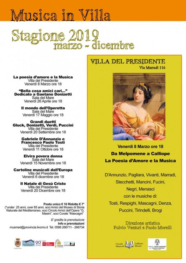 Musica in Villa - Stagione 2019