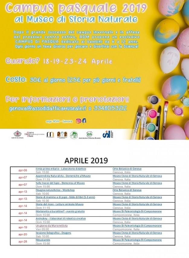 Attività per bambini e famiglie - Aprile 2019