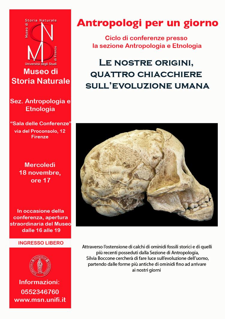 Le nostre origini, quattro chiacchiere sull'evoluzione umana