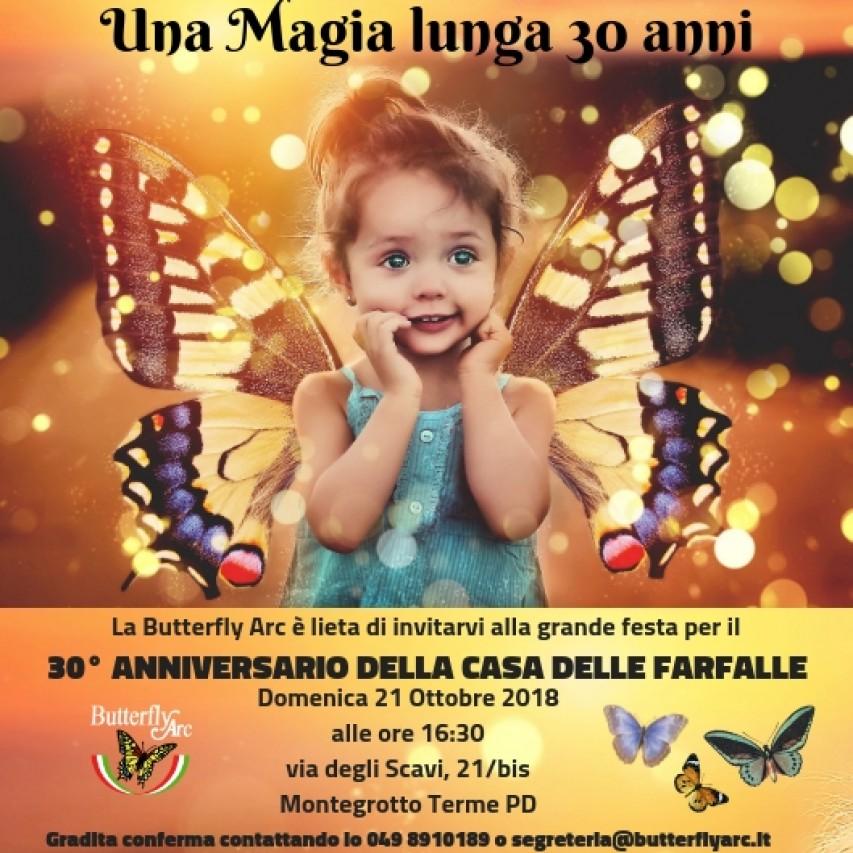 Grande Festa per il 30° ANNIVERSARIO DELLA BUTTERFLY ARC