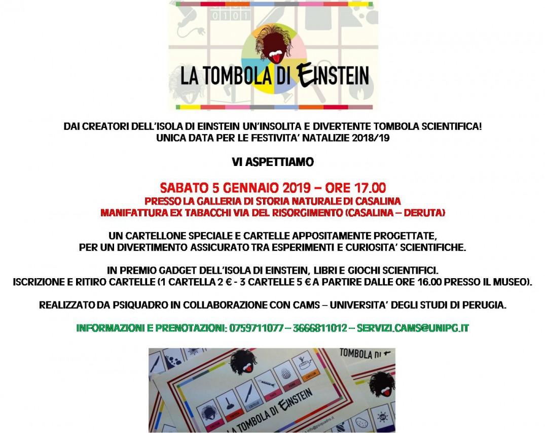LA TOMBOLA DI EINSTEIN 2019