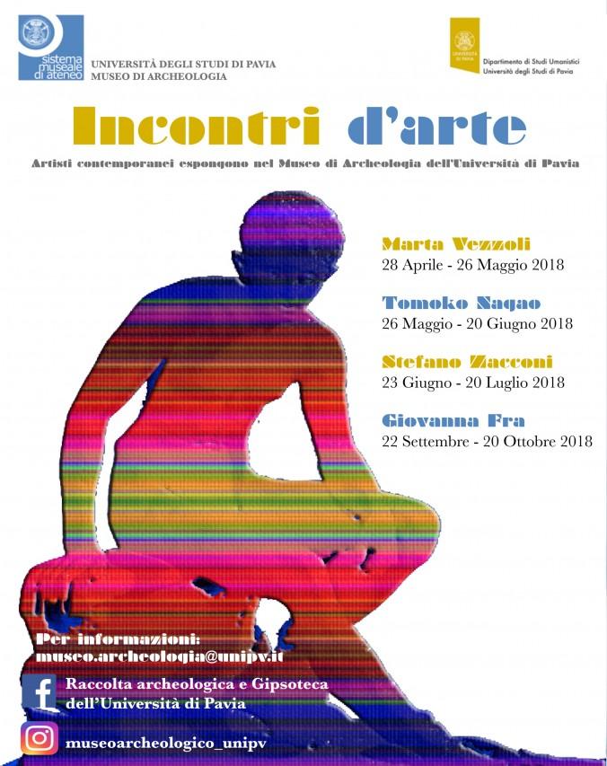 Incontri d'arte - inaugurazione dell'esposizione di Tomoko Nagao presso il Museo di Archeologia di Pavia