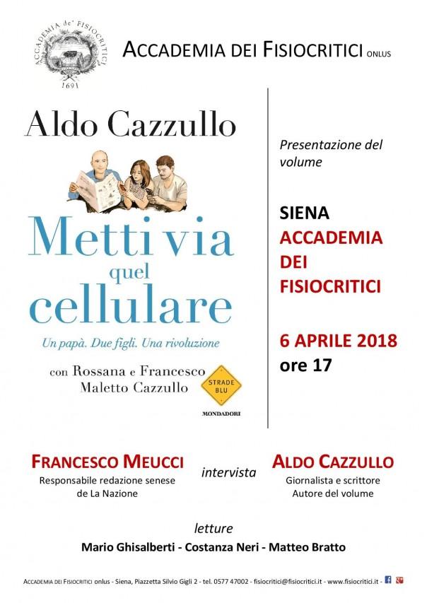 Aldo Cazzullo all'Accademia dei Fisiocritici