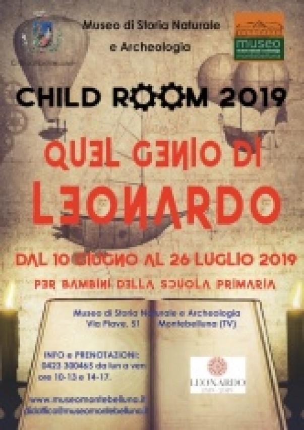 CHILD ROOM 2019. QUEL GENIO DI LEONARDO