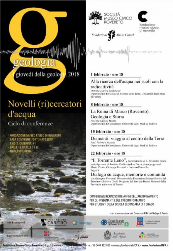 I GIOVEDI' DELLA GEOLOGIA 2018 - NOVELLI (RI)CERCATORI D'ACQUA