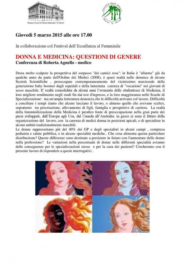 DONNA E MEDICINA: QUESTIONI DI GENERE