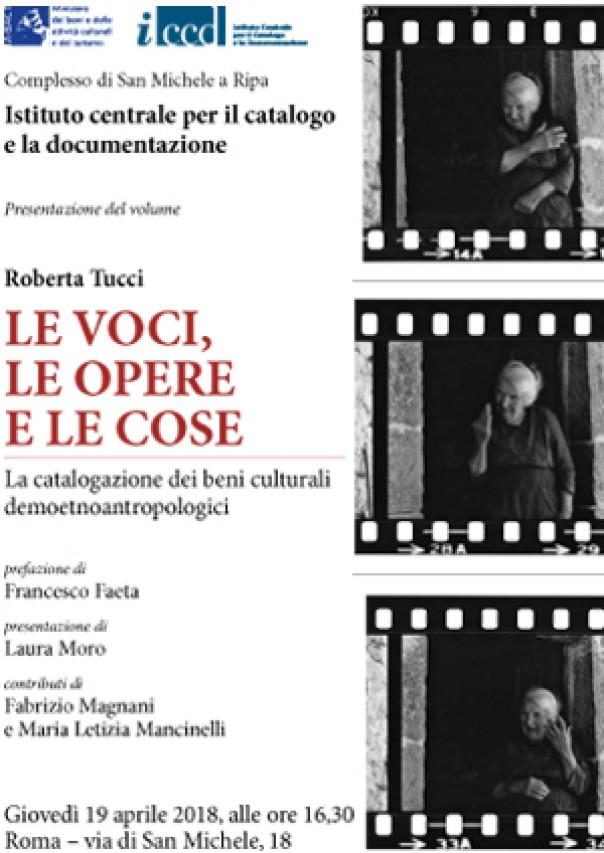 La catalogazione dei beni demoetnoantropologici in un volume