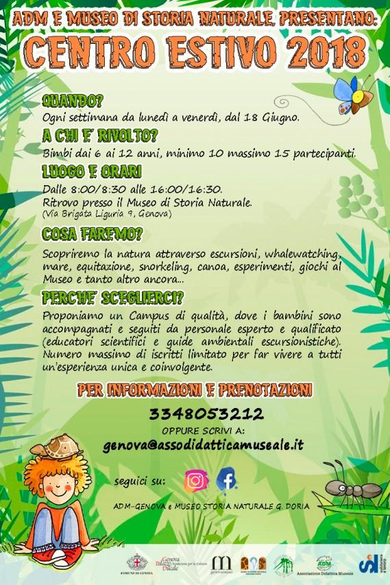 CENTRO ESTIVO al Museo Doria - Imparare divertendosi!!!
