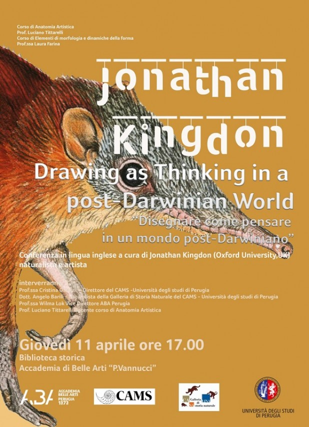 Conferenza Prof. Jonathan Kingdon: Drawing as Thinking in a post-Darwinian World