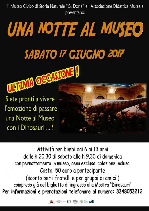 UNA NOTTE AL MUSEO - ULTIMA OCCASIONE!!!