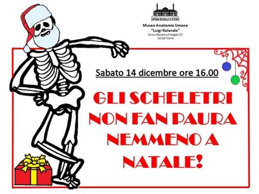Gli scheletri non fan paura nemmeno a Natale!