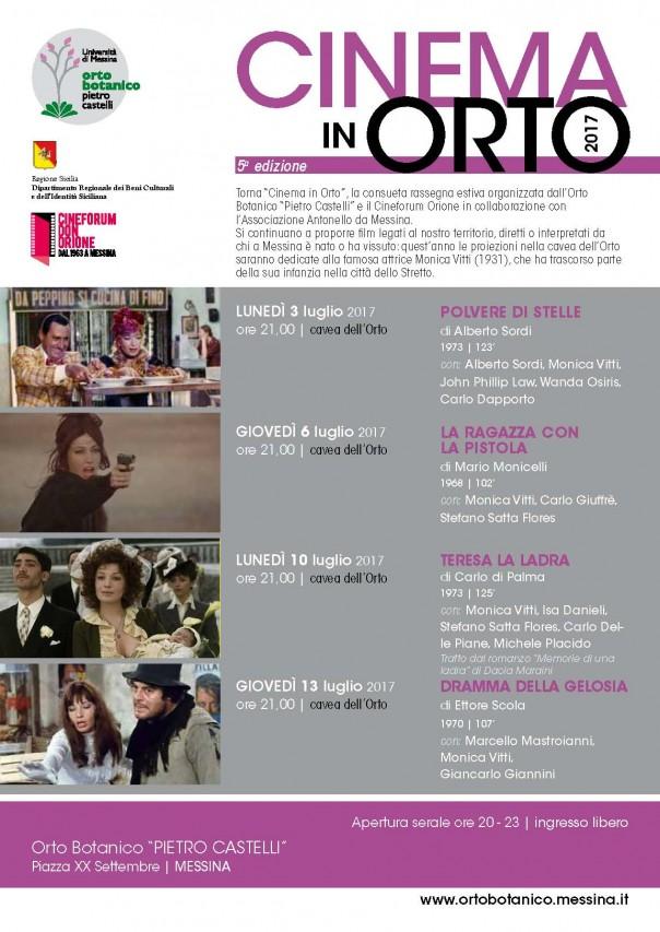 """CINEMA IN ORTO – V edizione - """"OMAGGIO A MONICA VITTI"""""""