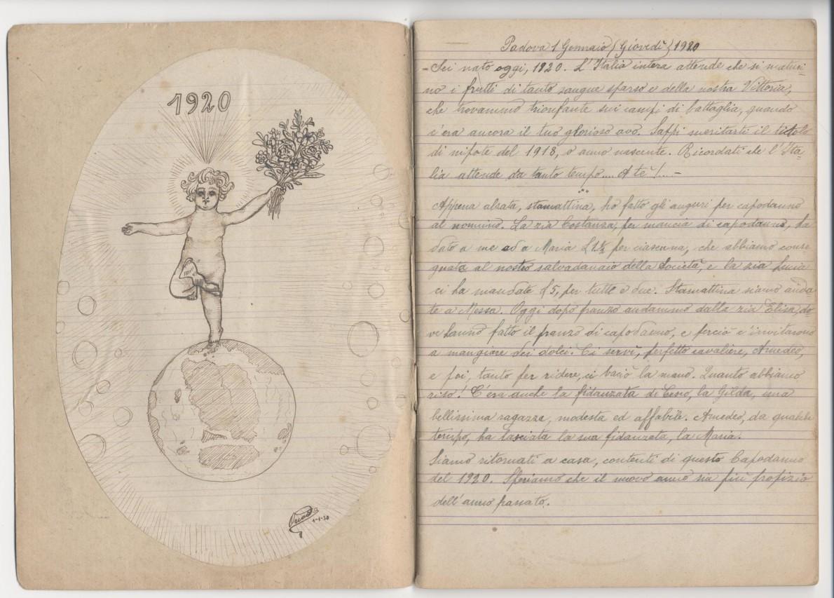 Bambini nella Padova del primo dopoguerra: immagini, diari, disegni, oggetti di vita quotidiana e scolastica