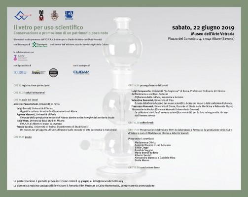 """Il Museo dell'Arte Vetraria Altarese organizza la Giornata di Studi  """"Il vetro per uso scientifico. Conservazione e promozione di un patrimonio poco noto"""""""