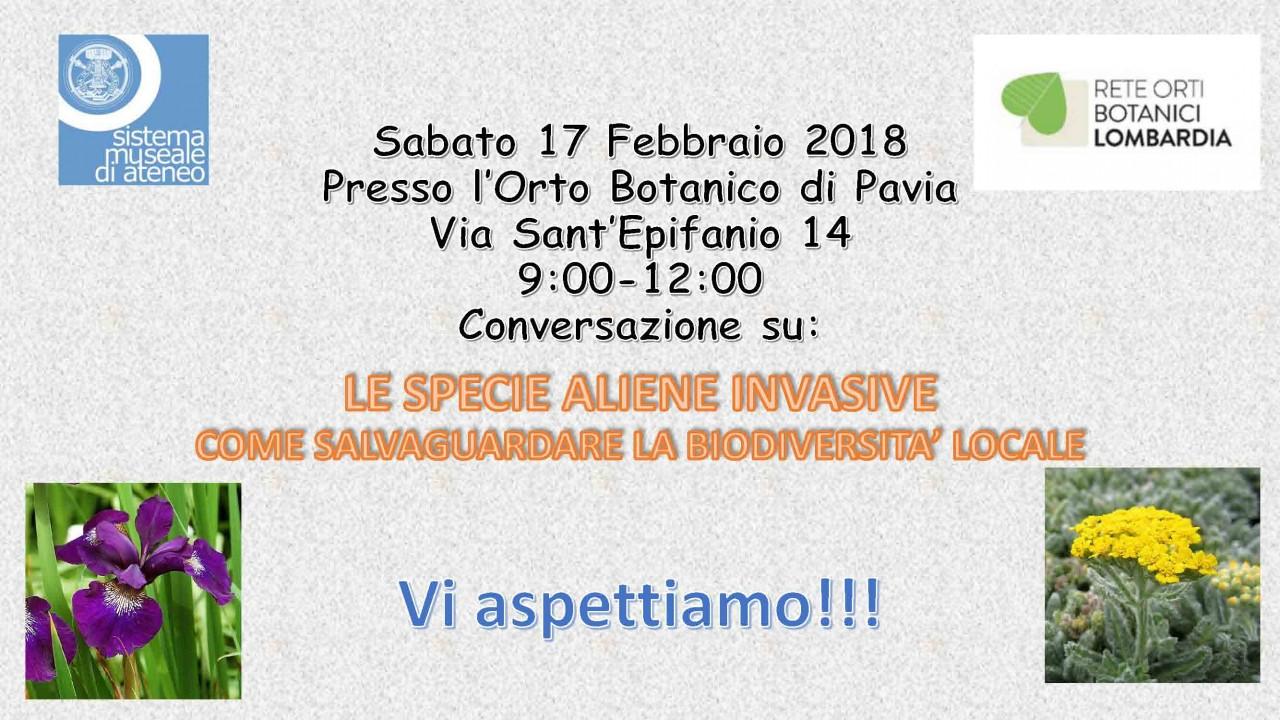 Apertura Orto Botanico di Pavia