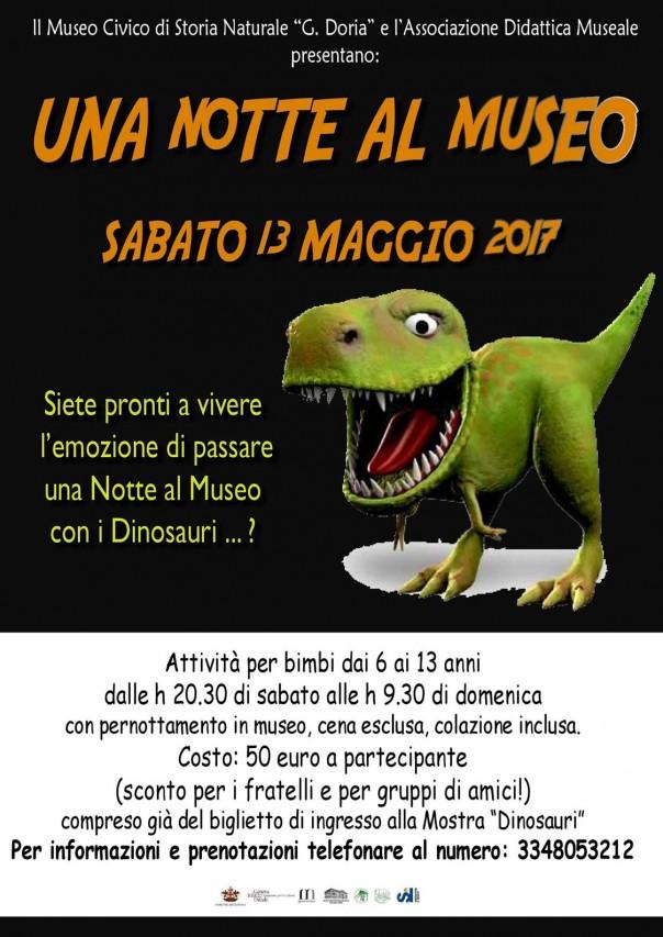 UNA NOTTE AL MUSEO CON I DINOSAURI