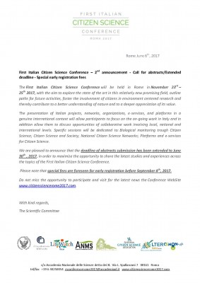 First Italian Citizen Science Conference - Roma 2017
