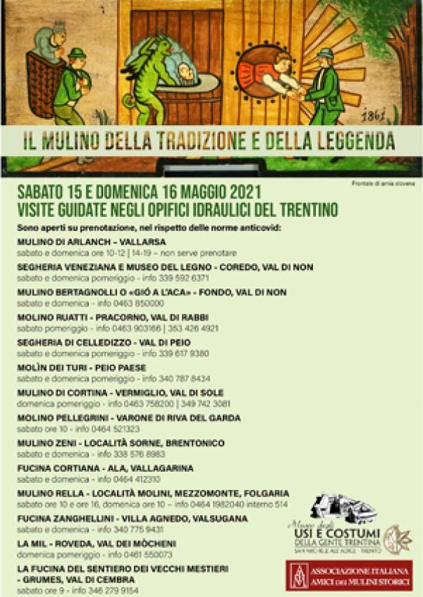 Aperti nel fine settimana in Trentino mulini, fucine e segherie