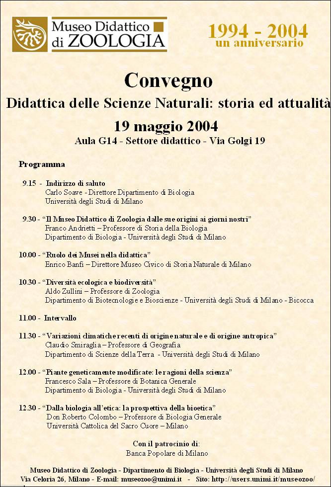 Didattica delle Scienze Naturali: storia ed attualità
