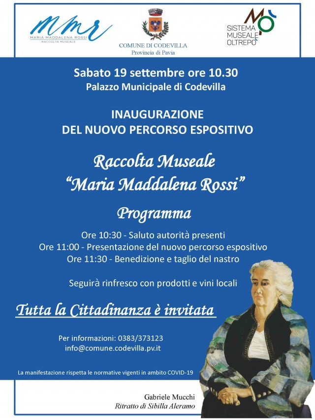 Inaugurazione Raccolta Museale Maria Maddalena Rossi