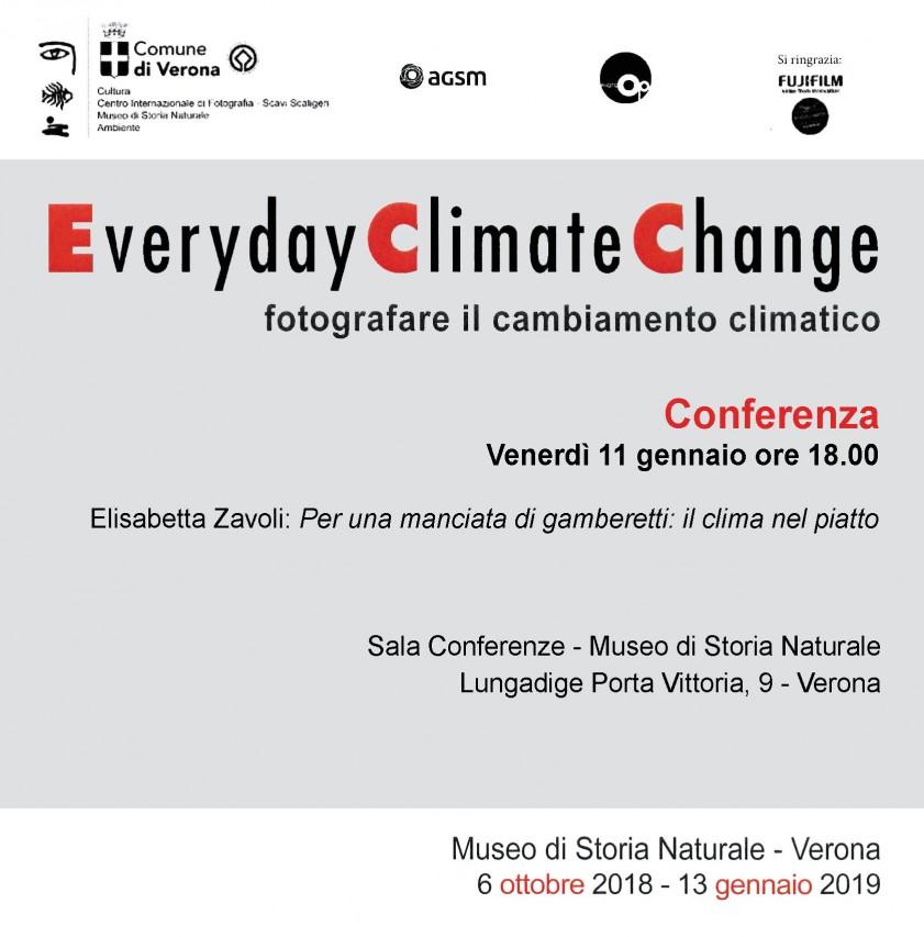 Conferenza Everiday Climate Change fotografare il cambiamento climatico